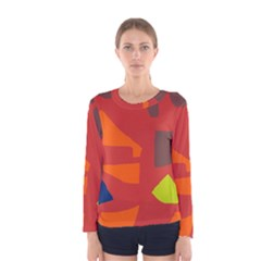 Red abstraction Women s Long Sleeve Tee