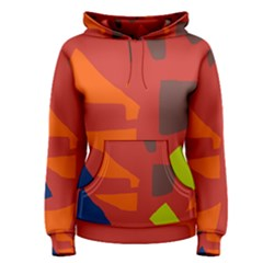 Red abstraction Women s Pullover Hoodie