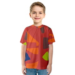 Red abstraction Kid s Sport Mesh Tee
