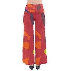 Red abstraction Pants