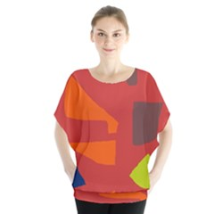Red abstraction Blouse