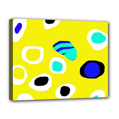 Yellow abstract pattern Canvas 14  x 11