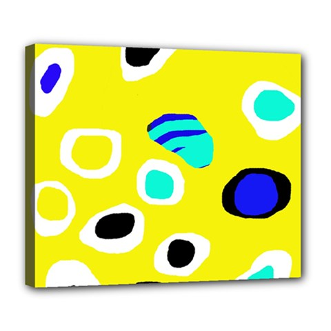 Yellow abstract pattern Deluxe Canvas 24  x 20
