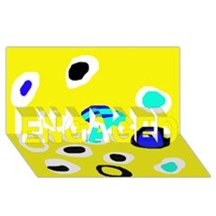 Yellow abstract pattern ENGAGED 3D Greeting Card (8x4)