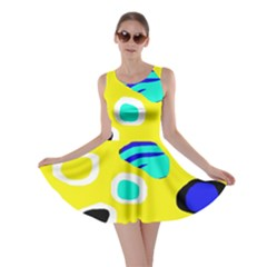 Yellow abstract pattern Skater Dress