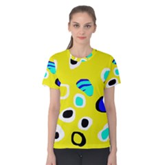 Yellow abstract pattern Women s Cotton Tee