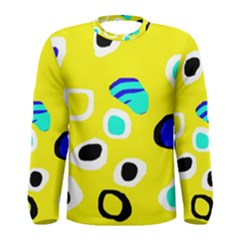 Yellow abstract pattern Men s Long Sleeve Tee