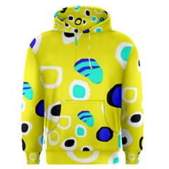 Yellow abstract pattern Men s Pullover Hoodie