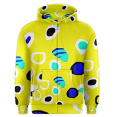 Yellow abstract pattern Men s Zipper Hoodie