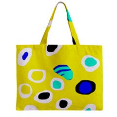 Yellow abstract pattern Zipper Mini Tote Bag