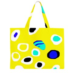 Yellow abstract pattern Large Tote Bag