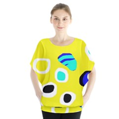 Yellow Abstract Pattern Blouse