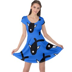 Cute fishes Cap Sleeve Dresses