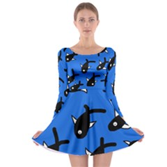 Cute fishes Long Sleeve Skater Dress