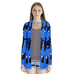 Cute fishes Drape Collar Cardigan