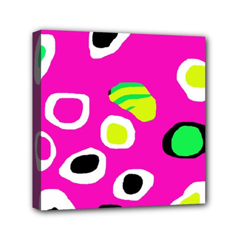 Pink abstract pattern Mini Canvas 6  x 6