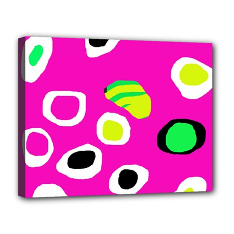Pink abstract pattern Canvas 14  x 11