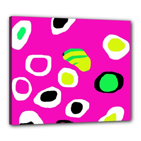 Pink abstract pattern Canvas 24  x 20