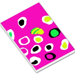 Pink abstract pattern Large Memo Pads