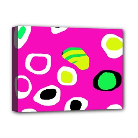 Pink abstract pattern Deluxe Canvas 16  x 12