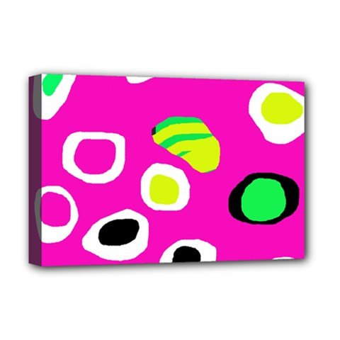 Pink abstract pattern Deluxe Canvas 18  x 12