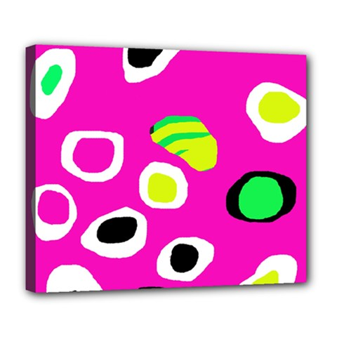 Pink abstract pattern Deluxe Canvas 24  x 20