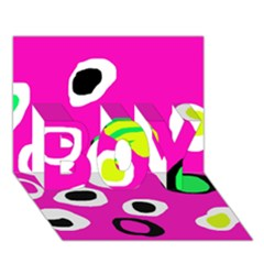 Pink abstract pattern BOY 3D Greeting Card (7x5)