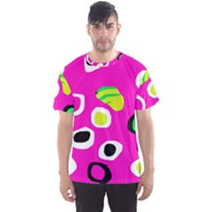 Pink abstract pattern Men s Sport Mesh Tee