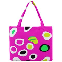 Pink abstract pattern Mini Tote Bag