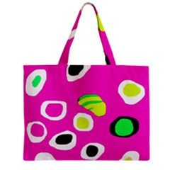 Pink abstract pattern Zipper Mini Tote Bag