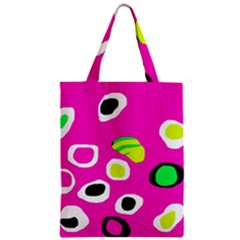 Pink abstract pattern Zipper Classic Tote Bag