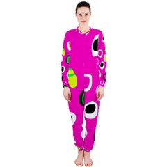 Pink abstract pattern OnePiece Jumpsuit (Ladies)