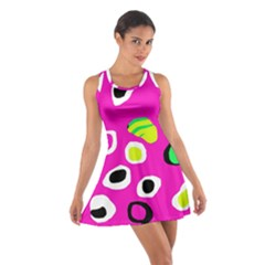 Pink Abstract Pattern Cotton Racerback Dress