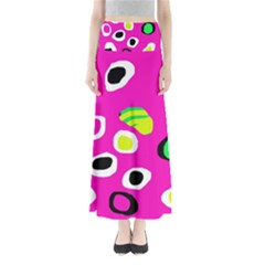 Pink abstract pattern Maxi Skirts