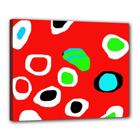 Red abstract pattern Canvas 20  x 16