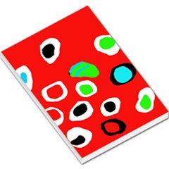 Red abstract pattern Large Memo Pads
