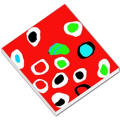 Red abstract pattern Small Memo Pads