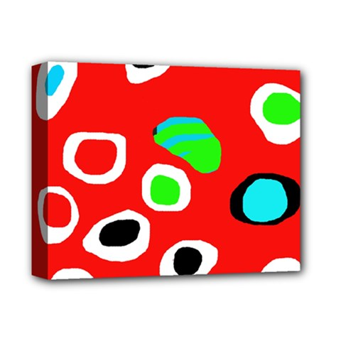Red abstract pattern Deluxe Canvas 14  x 11