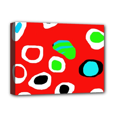 Red abstract pattern Deluxe Canvas 16  x 12
