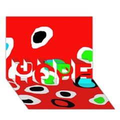 Red Abstract Pattern Hope 3d Greeting Card (7x5)