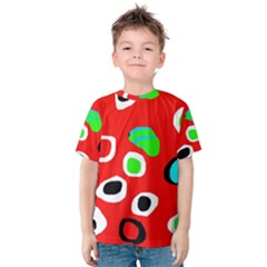 Red Abstract Pattern Kid s Cotton Tee