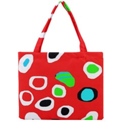 Red abstract pattern Mini Tote Bag