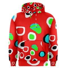 Red abstract pattern Men s Pullover Hoodie