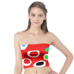 Red abstract pattern Tube Top