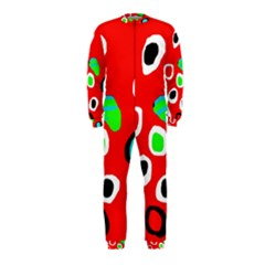 Red abstract pattern OnePiece Jumpsuit (Kids)