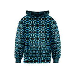 Dots Pattern Turquoise Blue Kids  Zipper Hoodie