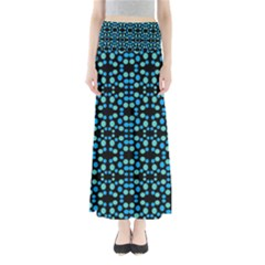 Dots Pattern Turquoise Blue Maxi Skirts