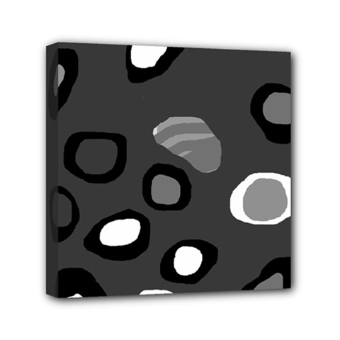 Gray abstract pattern Mini Canvas 6  x 6