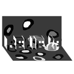 Gray abstract pattern BELIEVE 3D Greeting Card (8x4)