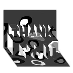 Gray abstract pattern THANK YOU 3D Greeting Card (7x5)